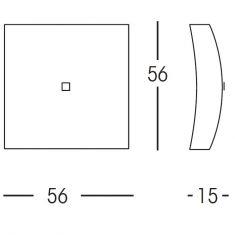 Formschöne Deckenleuchte mit weißem Glas - in 56x56cm 4x 28 Watt, 15,00 cm, 56,00 cm, 56,00 cm