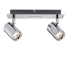 LED-Strahler Rondo Chrom inkl. 2x 3.5W GU10 LED