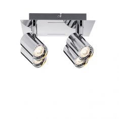 LED-Strahler in Chrom inklusive 4x 3.5W GU10 LED
