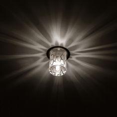Einbauleuchte mit Dekorglas für schöne Lichteffekte, Halogen Leuchtmittel inklusive