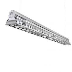 Büro-Raster-Deckenleuchte - Aluminium - 2-flammig - 2 x 39 Watt 2x 39 Watt, 87,20 cm