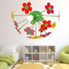 Bunte Kinderzimmer Deckenleuchte -  Blumenwiese