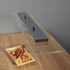 LED-Zugpendelleuchte chrom, Glas inkl. 4x4/COB (Chip on Board) LED 4x 4 Watt, 70,00 cm, 12,00 cm