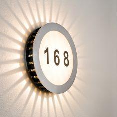 LED-Hausnummern-Leuchte - Edelstahl - Acryl