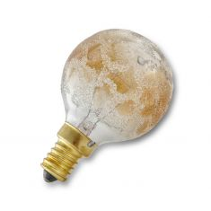 Glühlampe Leuchtmittel G50 Globe E14 Krokogold 25 Watt blendreduziert dekorativ