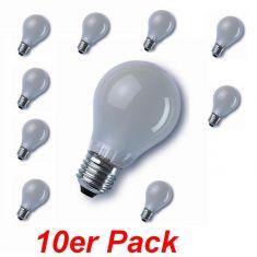 E27 60W matt, A60 im 10er Pack 10x 60 Watt, 60 Watt, 710,0 Lumen