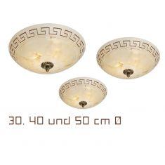 Deckenleuchte Durchmesser 30 cm Deckenlampe Landhausstil antik Beleuchtung 2x 60 Watt, 11,60 cm, 30,00 cm
