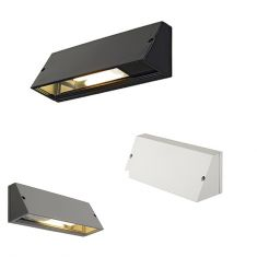 Außenwandleuchte mit Lichtaustritt nach unten, Leuchte in Schwarz, Silbergrau oder Weiß lieferbar