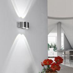 LED Wandleuchte aus Aluminium IP 54 für Innen und Außen