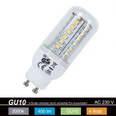 LED-Leuchtemittel mit GU10 Sockel - 4 Watt - Warmweiß