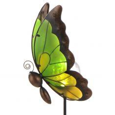 Erdspieß-Solar-Leuchte Butterfly, Schmetterling in Orange oder Grün lieferbar