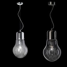 4 flammige pendelleuchte in gl hbirnenform klarglas chrom l nge 78cm wohnlicht. Black Bedroom Furniture Sets. Home Design Ideas