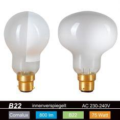 B22 Hammerkopf Glühlampe 75W innenverspiegelt 85x115mm Glühlampe TESTA MARTELLO Colombo SPIDER 1x 75 Watt, 75 Watt, 800,0 Lumen