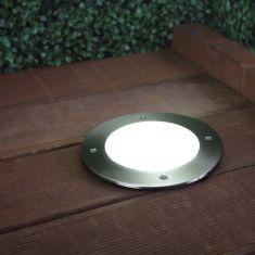 LED-Bodeneinbauleuchte mit Edelstahlring, - D=18cm, nur 3,3 Watt