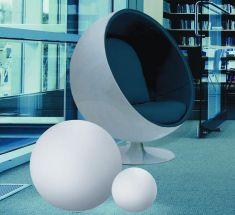 Kugelleuchte aus Polyethylen - bruch-beständig, Ø 115cm - Innenbereich