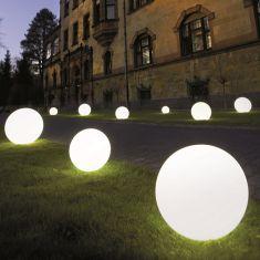Außenleuchte Snowball aus satiniertem Kunststoff in 30cm Ø Ja, 30,00 cm