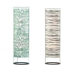 Trendige Stehleuchte - mit verschiedenen Mustern - zur Raum- und Lichtgestaltung - ovale Form
