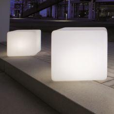 Würfel-Leuchte-funktionales Gartenelement mit Kantenlänge 35cm oder 45cm