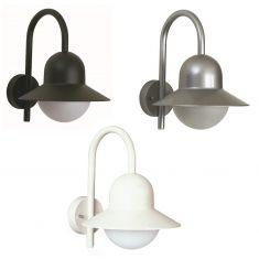 Wandleuchte aus Aluminiumguss - in 3 Farben - schwarz, weiß und silber