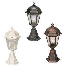 Sockelleuchte in schwarz-silber, braun-messing oder weiß-gold - Höhe 52cm