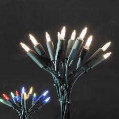 LED-Minilichterkette für den Innenbereich - 10 LED-Dioden - 230 V - Grünes Kabel - warmweiss oder bunt