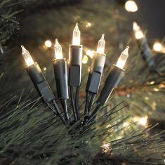 LED-Minilichterkette für den Innenbereich - 20 LED-Dioden - 230 V - Grünes Kabel - warmweiss warmweiß