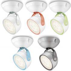 LED-Spot im Retro-Stil aus Kunststoff - Für Wand oder Decke - Inklusive 4 Watt LED - 5 Farben
