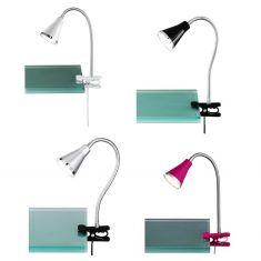 Moderne LED-Klemmleuchte für den Schreibtisch