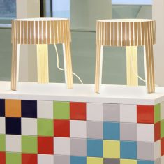 Arturo Alvarez Tischleuchte Shio - 3 Holzfarben wählbar