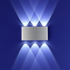 B-Leuchten LED Wandleuchte Stream Aluminium