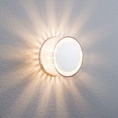 Dekorative LED-Wand- oder Deckenleuchte als Effektleuchte - Chrom matt - Transparente Effektfolie