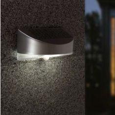 Design-Solar-LED-Leuchte mit Bewegungsmelder, IP44, aus witterungsfestem Kunststoff