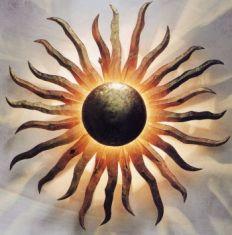 Blickfang Wandleuchte: die Sonne