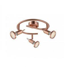 Klassischer LED Deckenspot - Rondell - in mattem Kupfer - inklusive LED-Leuchtmittel und  LED-Taschenlampe