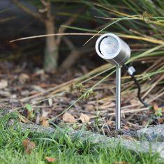 LED Erdspieß Tin Edelstahl inklusive LED GU10  5W