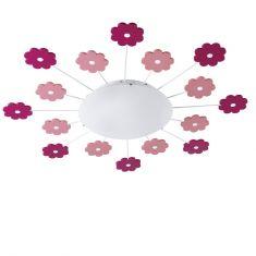 Leuchte mit 15 Minuten Nachtlicht-Funktion für Wand oder Decke, Motiv Blume