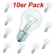 Leuchtmittel E27 60W klar, A60 im 10er Pack
