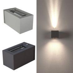 Moderne Effekt-Aussenlampe JOY - 2 Farben - Silbergrau oder Anthrazit