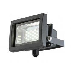 Moderner LED-Baustrahler aus Aluminium in grau mit klarem Glas - schwenkbar - 10 Watt
