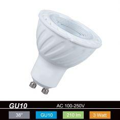 QPAR51 LED GU10  3W warmweiß 2700K 230V 210lm 450cd 38° nicht dimmbar