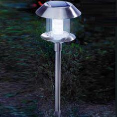 Solarleuchte SWING  mit  superheller,  weißer LED inkl. Erdspieß