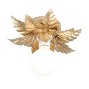 Wand- oder Deckenleuchte in Gold - Florentiner Stil - Durchmesser 27 cm - Für 1 x E27 60 Watt