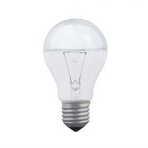 A60 E27 Glühlampe kopfverspiegelt in Silber - 40W oder 100W