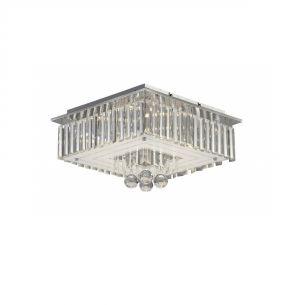 Deckenleuchte  - LED - Kristall - Chrom - Inklusive LED 6 x 3 Watt  1170 Lumen  3000 Kelvin