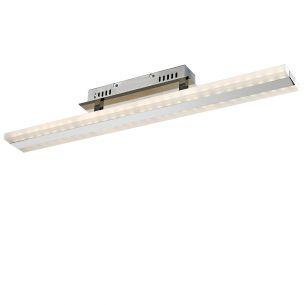 Moderne Deckenleuchte - LED - Chrom - Acrylglas - Inklusive LED 2 x 15 Watt  2400 Lumen  3200 Kelvin