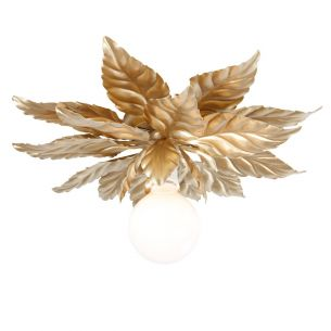 Deckenleuchte in Gold - Florentiner Stil - Durchmesser 48 cm - Für 1 x E27 60 Watt - Gold oder Gold-antik
