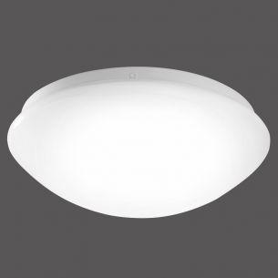 LED-Deckenleuchte mit weißem Kunststoffschirm Ø24,5cm - inklusive LED-Boars 8W 870lm 3000K