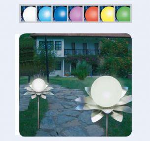 LED Solarleuchte LEUCHTBLUME  aus Edelstahl und Kunststoff  in 4 Varianten  wählbar