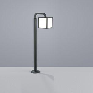 Moderne LED-Wegeleuchte für Außen - Aluminium - Kunststoff - Anthrazit - Inklusive LED 6 Watt 470 Lumen 3000 Kelvin