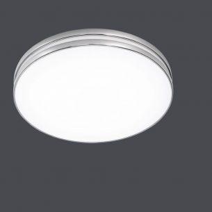 Moderne LED-Deckenleuchte - Chrom - Acrylglas - Inklusive LED 24 Watt  2100 Lumen  3000 Kelvin